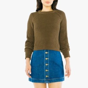 American Apparel Aline Denim Mini Skirt